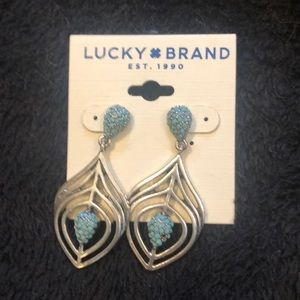 Lucky brand silver and turquoise earrings